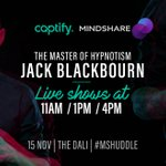 Unlock the inner-world of psyche with a master of hypnotism at @Captify's Illusions Lab. Don't miss the first live show at 11am!! #MSHuddle @mindshare_uk