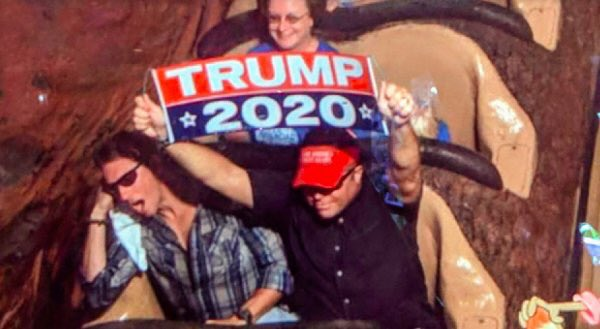 Man kicked out of Disney World for waving &quot;Trump 2020&quot; banner during ride  http:// cbsn.ws/2QHd5xp  &nbsp;  <br>http://pic.twitter.com/8QnBIH20va