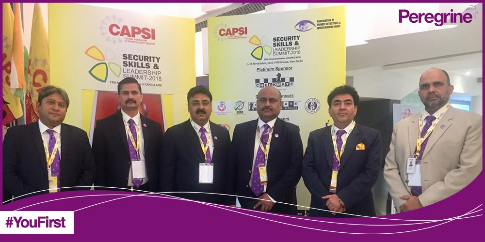 True to our commitment towards safety, we are excited to be here at the 13th Annual Conference of Central Association of Private Security Industry (CAPSI) in New Delhi. Stay tuned! #YouFirst #Peregrine<br>http://pic.twitter.com/oAJt4ikYVK