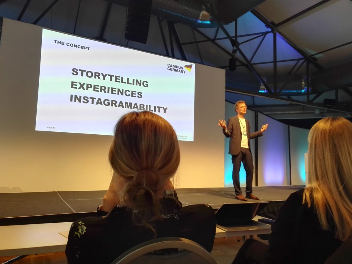 #Marketing #Germany at the EXPO Pavilion @expo2020dubai will focus on #storytelling, experience and instagramability, explains Andreas Hobelt at #MMK18 in #Berlin.  #Marketing