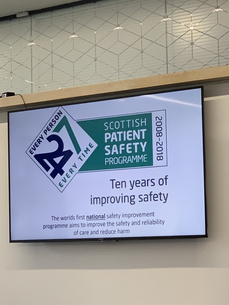 Ten years of @SPSP_AcuteAdult highlighted at @online_his Annual Review. Now across all of health and social care in Scotland. Sepsis mortality ⬇️21%, stillbirth mortality ⬇️22%, 550 fewer pressure ulcers a month.