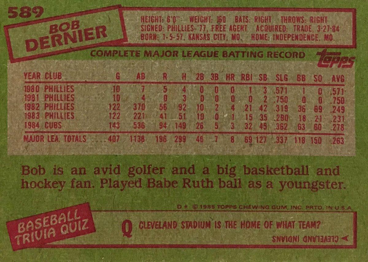 Baseball Card Backs on Twitter: