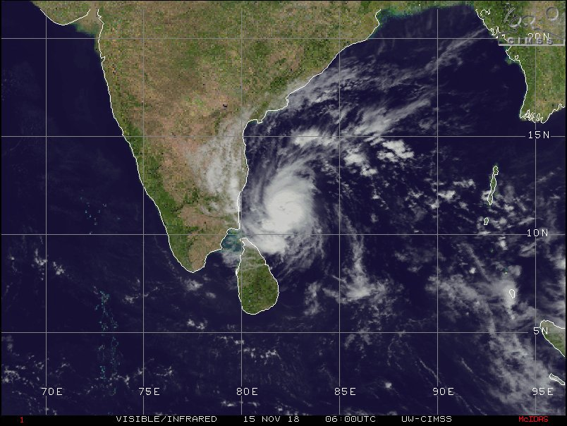 Gaja Cyclone 🌀 Alert Sri Lanka 🇱🇰 ! Tonight Northern Province expect Very Heavy Strong Winds 100kmph and Very Heavy Rains⛈️ 150mm! Cyclone Gaja move closer to Northern Jaffna Coast. Expect sea inundation 🌊 #LKA #SriLanka #WeatherSL #Jaffna #CycloneGAJA #Gaja @MeteoLK @dmc_lk