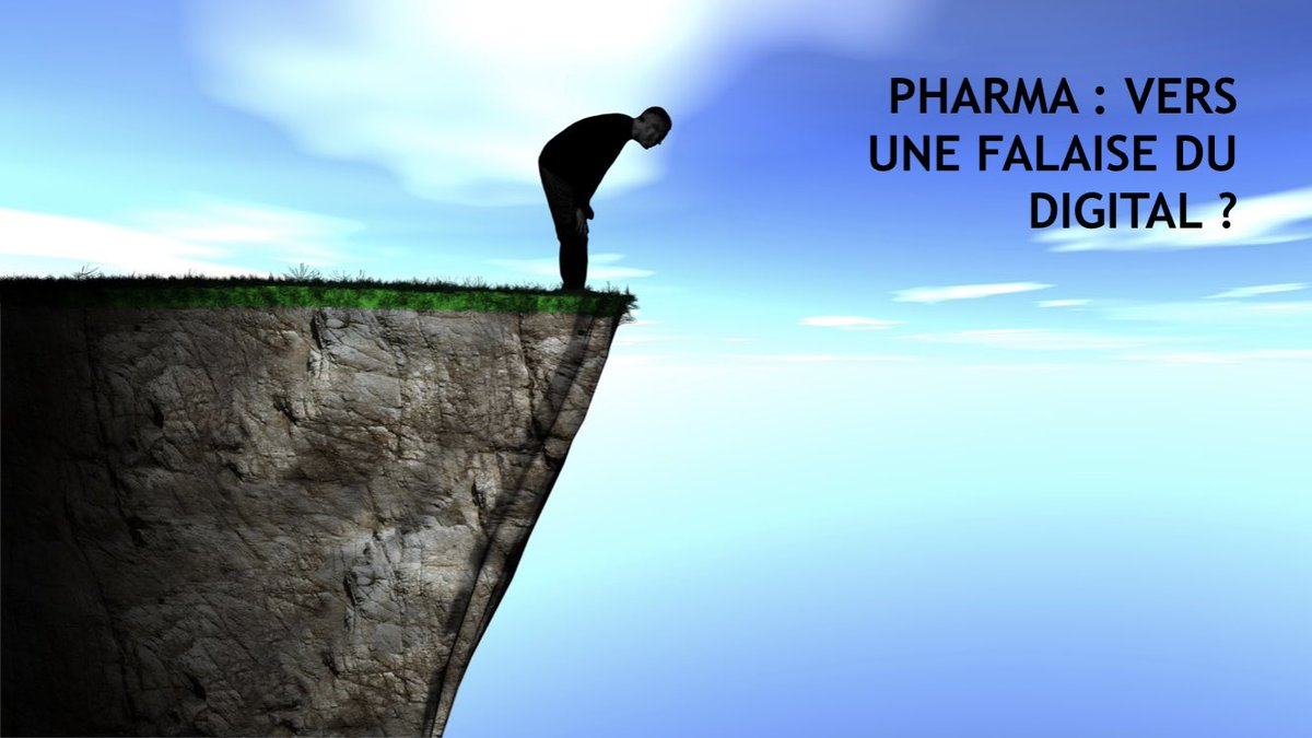 De plus en plus d'argent investit dans le #digital et à peine 20% de satisfaction de La #pharma Après la falaise des brevets.. bientôt la falaise du digital ? #hcsmeufr #esante