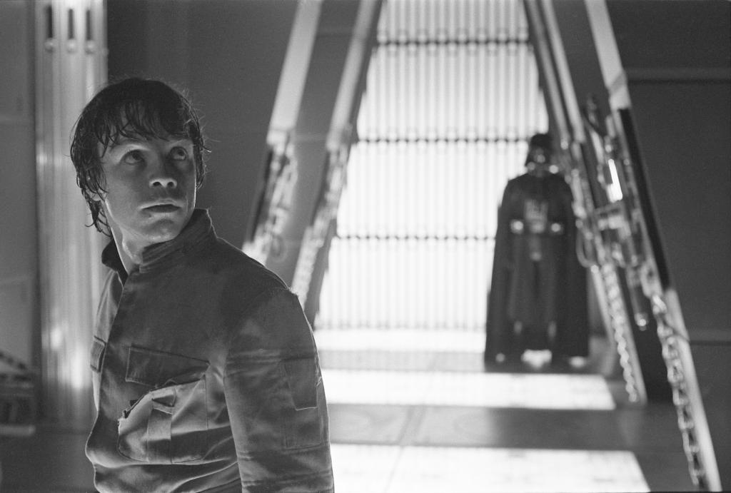 A Sith Lord engages in a heartwarming game of hide-and-seek with his son in this scene from The Empire Strikes Back. #ThrowbackThursday