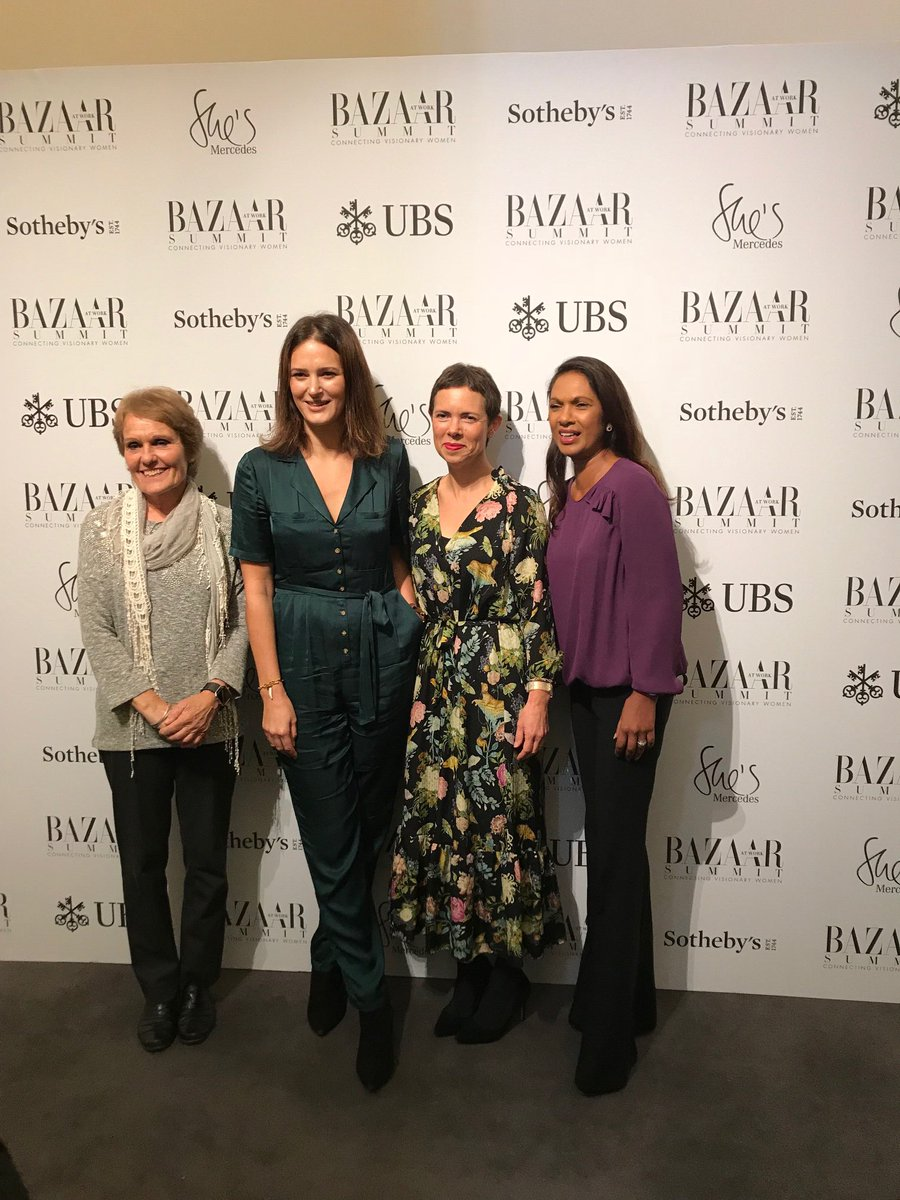 Thank you @harpersbazaarus @springfield16 @elizabday @thatginamiller it was fab to be on a panel w / you! #bazaarsummit
