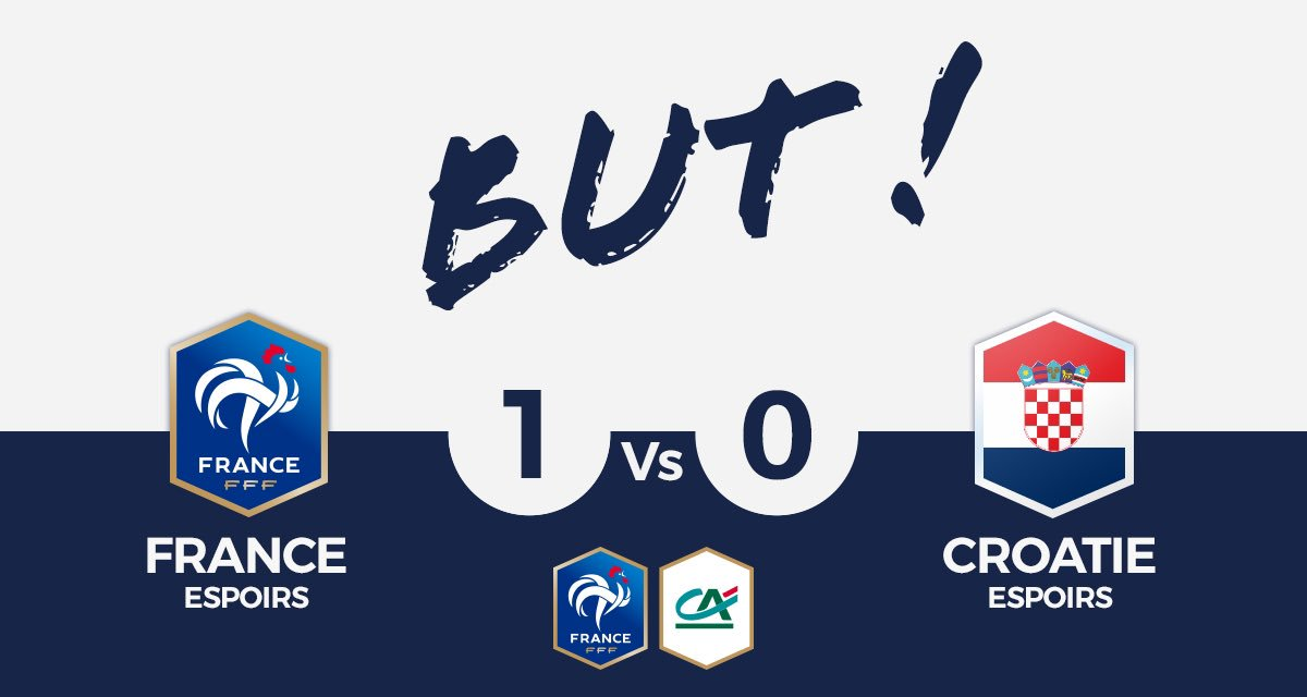 FRANCE U21🇫🇷 1-0 CROATIE U21🇭🇷  BUUUUUUUUUUUUUUT DE MATETA !  #SportEcoleDeVie #CôtéFoot #FRACRO