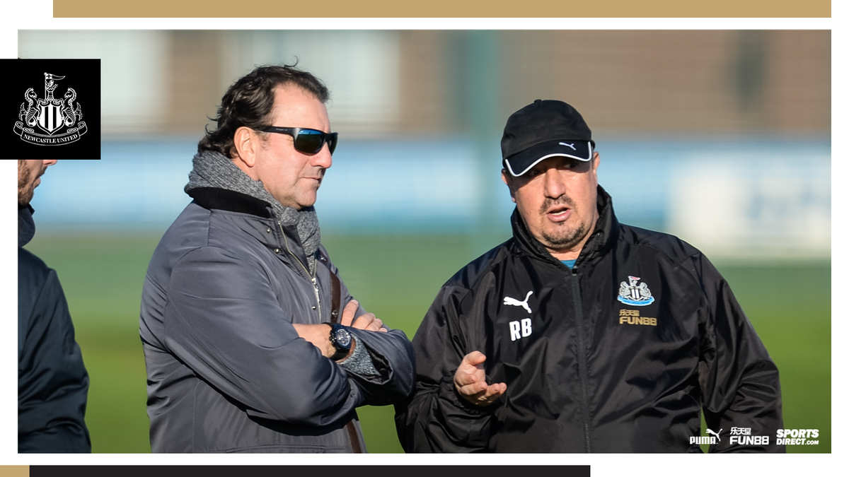 📸 Former Argentina international and Colombia assistant coach Néstor Lorenzo was a guest at training today. Here he is pictured with the boss. #NUFC