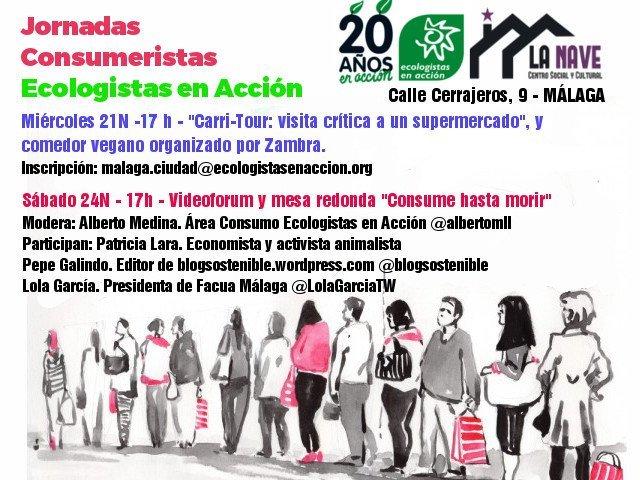 Pincha en la foto para escuchar un Podcast sobre Consumo Responsable: Mesa redonda organizada por Ecologistas en Acción Málaga (24/11/2018)
