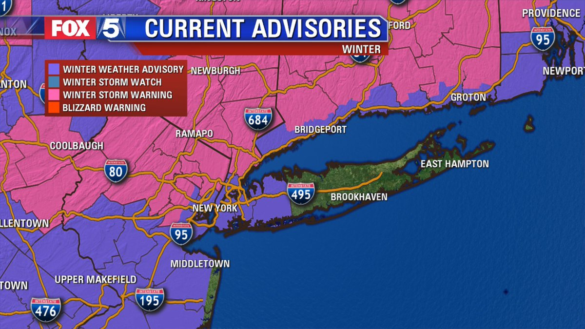 Winter weather advisories have expanded into western long