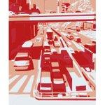 Image for the Tweet beginning: Traffic. Large 3 color silkscreen (118x84