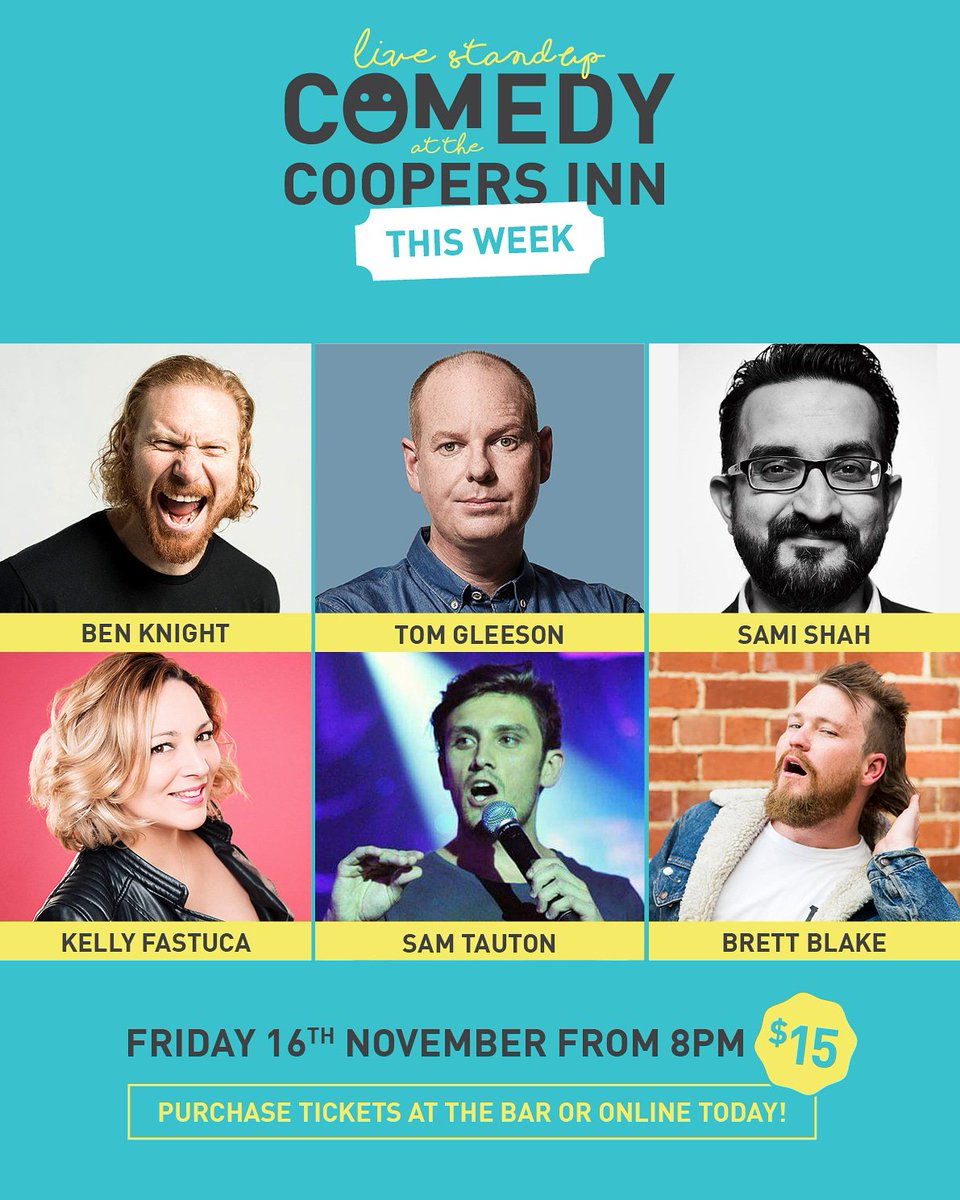 Today! @nonstoptom Tom Gleeson and awesome support acts!