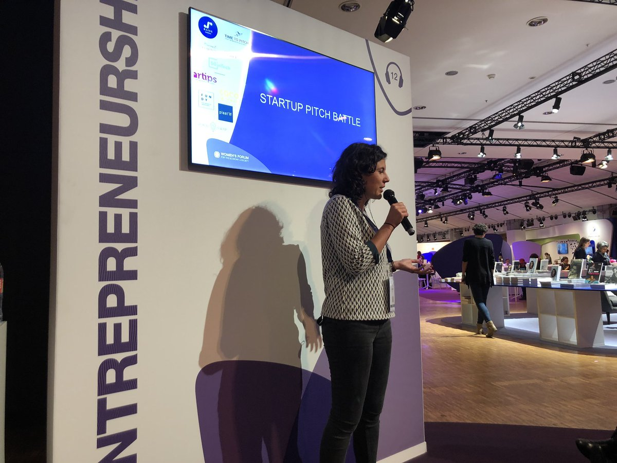 Startup pitch battle @Womens_Forum with 5 startups created by incredible Women @Artips_fr @Place2Swap @FundyMy @CocoworkerFr @_plastif<br>http://pic.twitter.com/LENkZ8kP2I