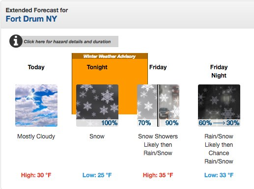Fort Drum Website >> Fortdrum 10thmtn On Twitter Snow Is In The Forecast