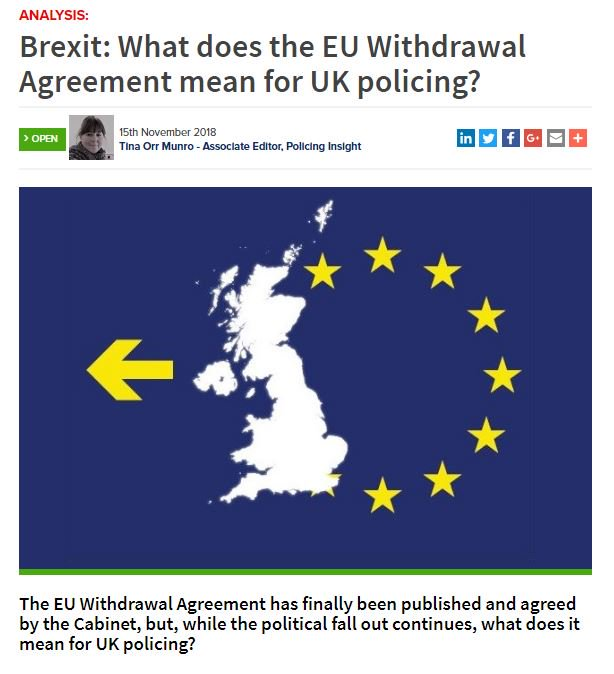 Policing Insight On Twitter Brexit What Does The Eu Withdrawal