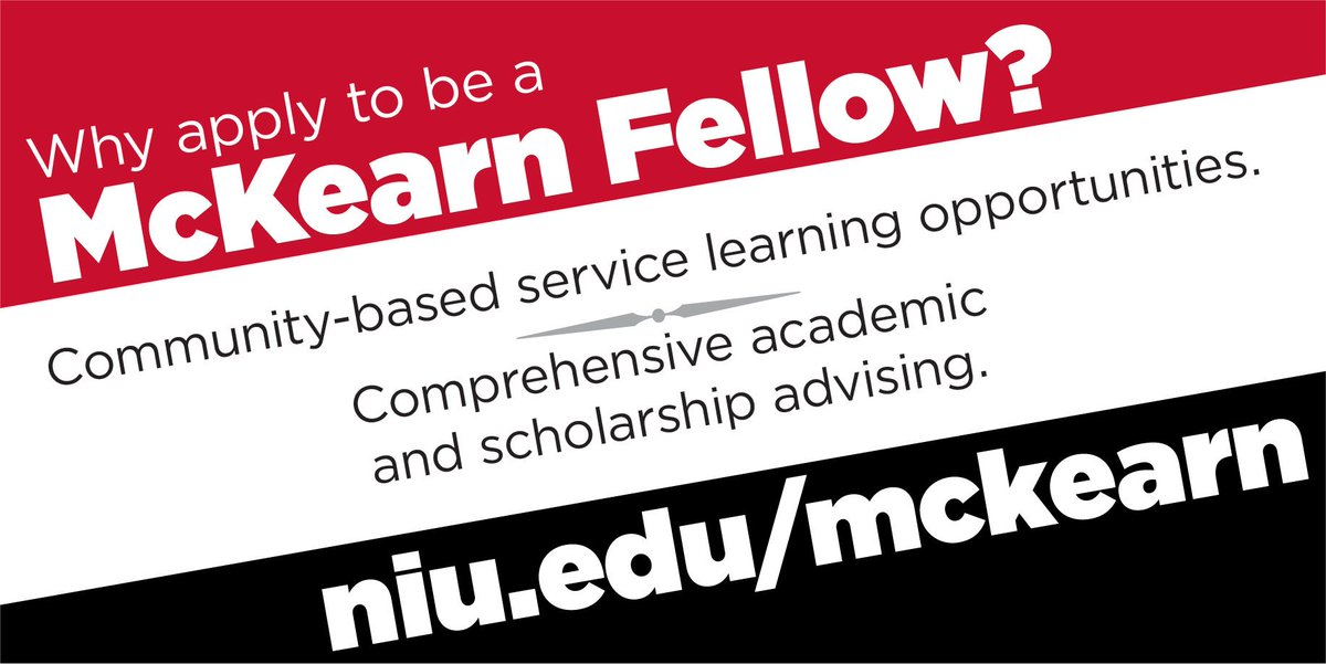 The McKearn Fellows Program offers an unparalleled educational experience for first-year #NIU students. Learn more and apply today: niu.edu/mckearn