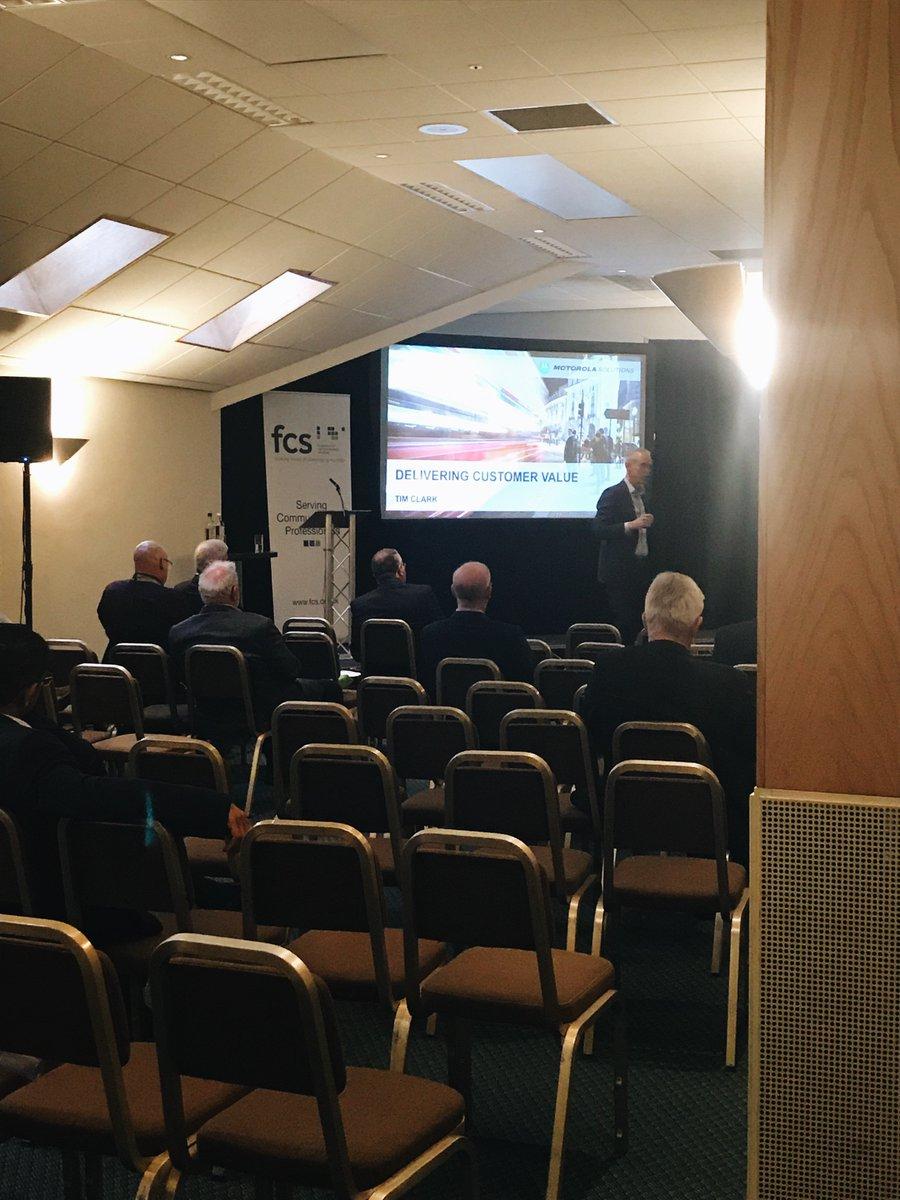 All ready for @MotSolsEMEA #Timclark presentation on 'The Value of Mission Critical Communications'  #fcsBR18 #dcrsltd #thefuture #motorolasolutions #industryexperts