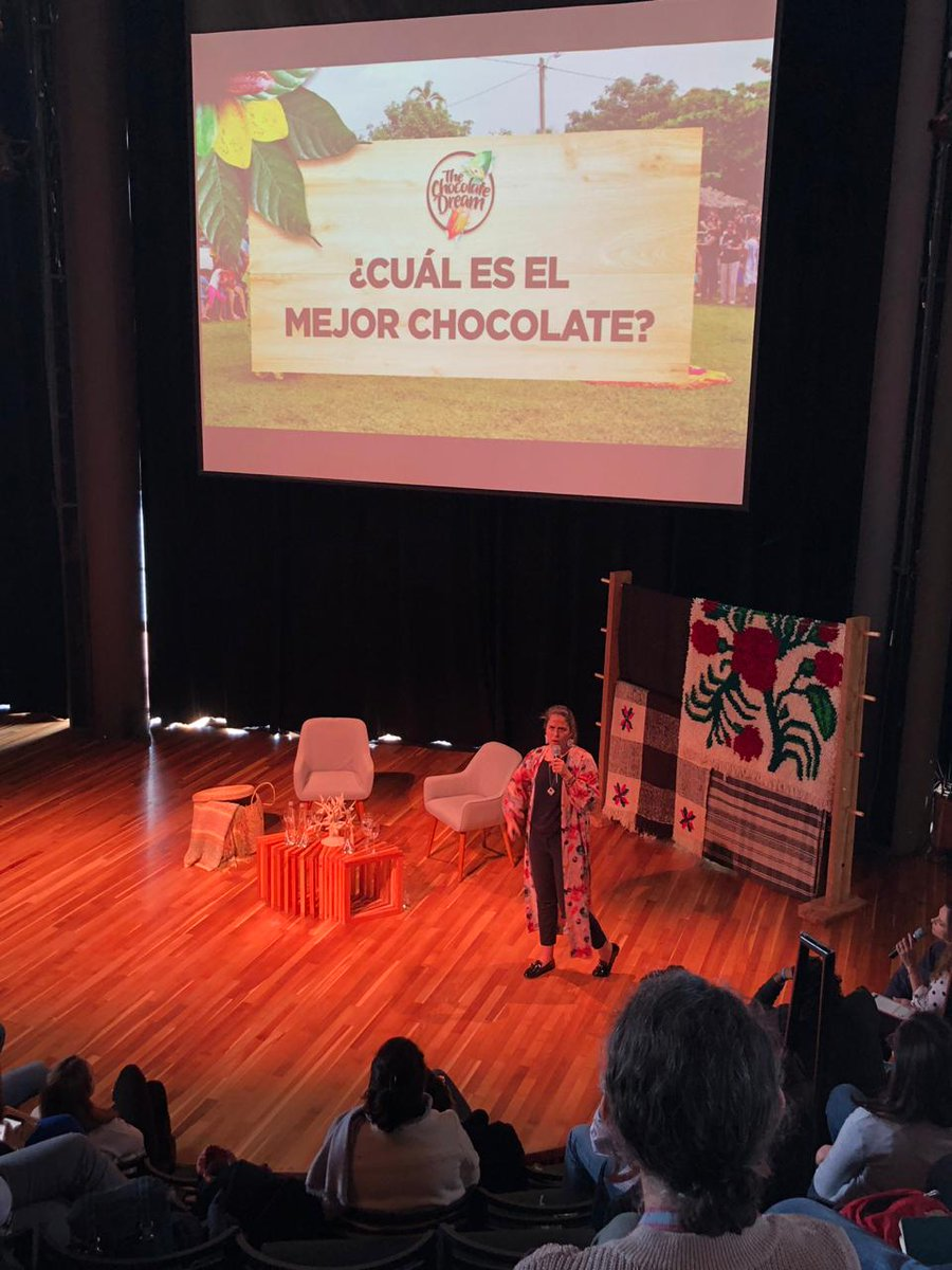 We are at the Encuentro+B Global, the first world meeting of Sistema B, at Puerto Varas, Chile, speaking about what it means for us to have the best chocolate. #EncuentroB #Bcorporation #SistemaB @SistemaB https://t.co/e9NlEofSy5