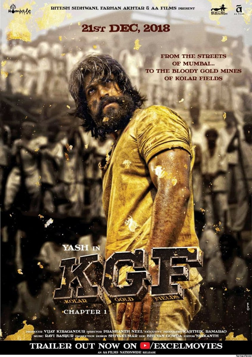Check Out The Brand New Hindi Poster Of Kgf Chapter 1 Releasing