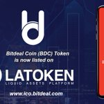 Image for the Tweet beginning: Bitdeal Coin (BDC) Token directly