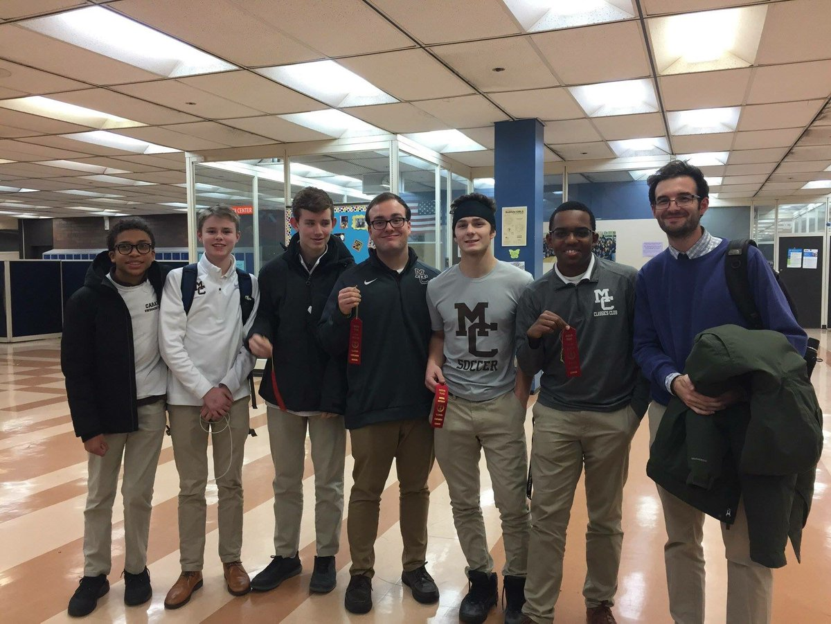 Congratulations to the Mount Carmel Classics Club who placed 2nd to Whitney Young in last nights competition on Latin Grammar and Roman History/Mythology. Other schools competing were St. Ignatius, Latin School, Walter Payton & Christ the King.