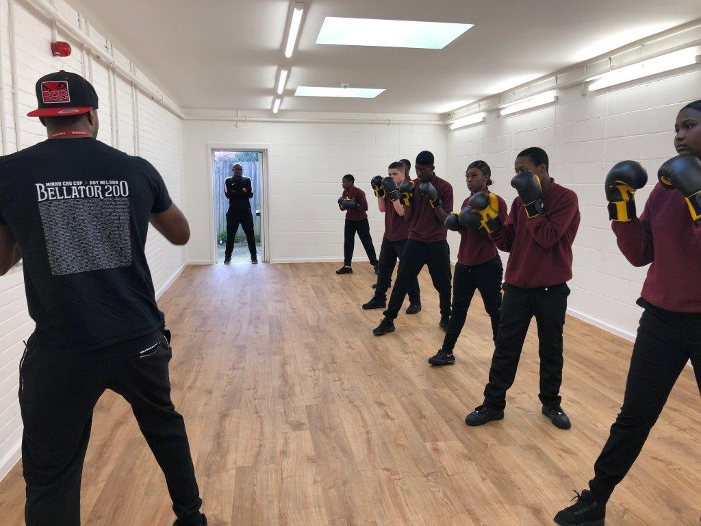 Another awesome afternoon with the one and only @Michaelpage247. Students are really benefiting from having sessions with a world class martial artist!