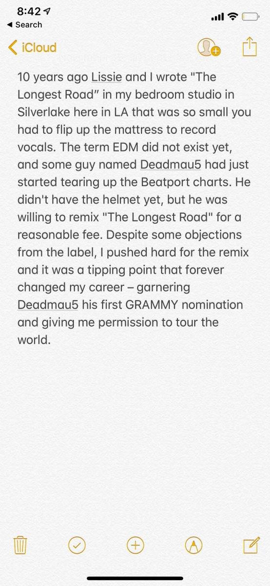 The Longest Road: Deadmau5 Remix.