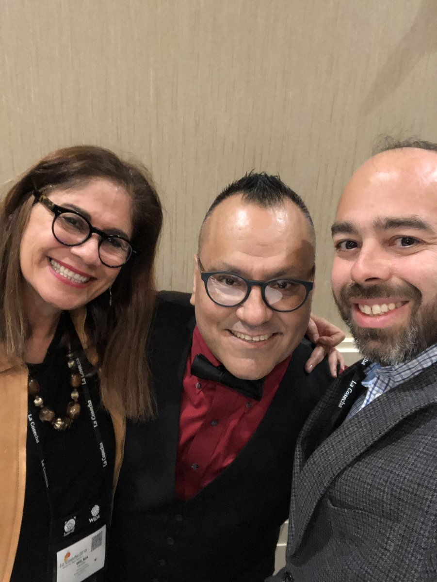 Our principal, Dr. Acevedo is presente at @JoseMedinaJr89  session at @DLeNM #LaCosecha2018