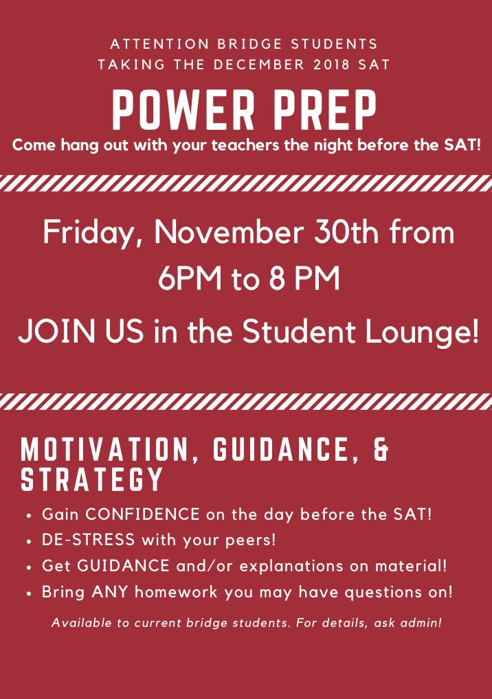 Ies Test Prep On Twitter Attention Bridge Students Taking The