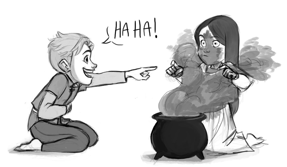 Bored so I doodled Claudia learning magic and Soren being the supportive brother that he is #tdpart #thedragonprince @thedragonprince<br>http://pic.twitter.com/eFWhWgdXFU