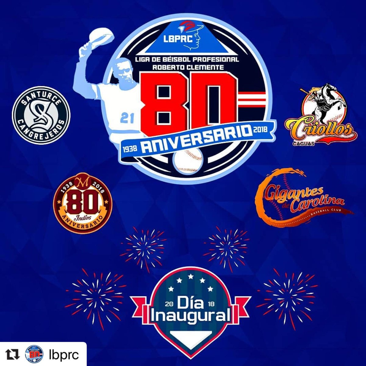 4446dceee9c New 80th-anniversary logo for the Roberto Clemente Baseball League ...