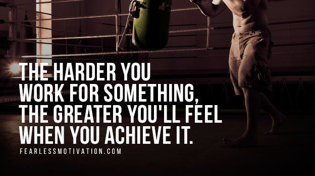 The harder you work for something, the greater you will feel when you achieve it. #FearlessMotivation buff.ly/2E951n5