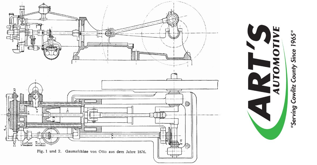 in 1867, nikolaus august otto improves on the internal combustion engine   his engine is the first to efficiently burn fuel directly in a piston  chamber
