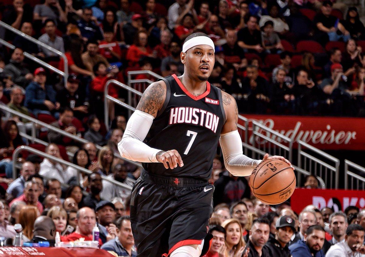 Carmelo Anthony nos Rockets
