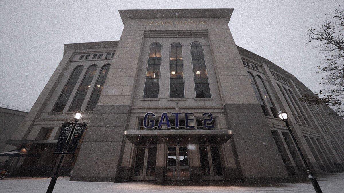 Fresh stadium snow ❄️