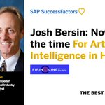 Top HCM thought-leader @Josh_Bersin sees a new generation of tools that are even more intelligent, more predictive, more useful to employees. Discover what else on the new Firing Line with @BillKutik: https://t.co/IDeVTH3ETd