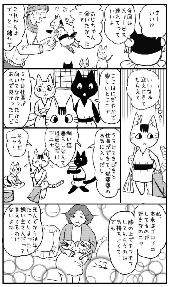 久々に、真夜中のラクガキ漫画かきました。「猫とチケット」