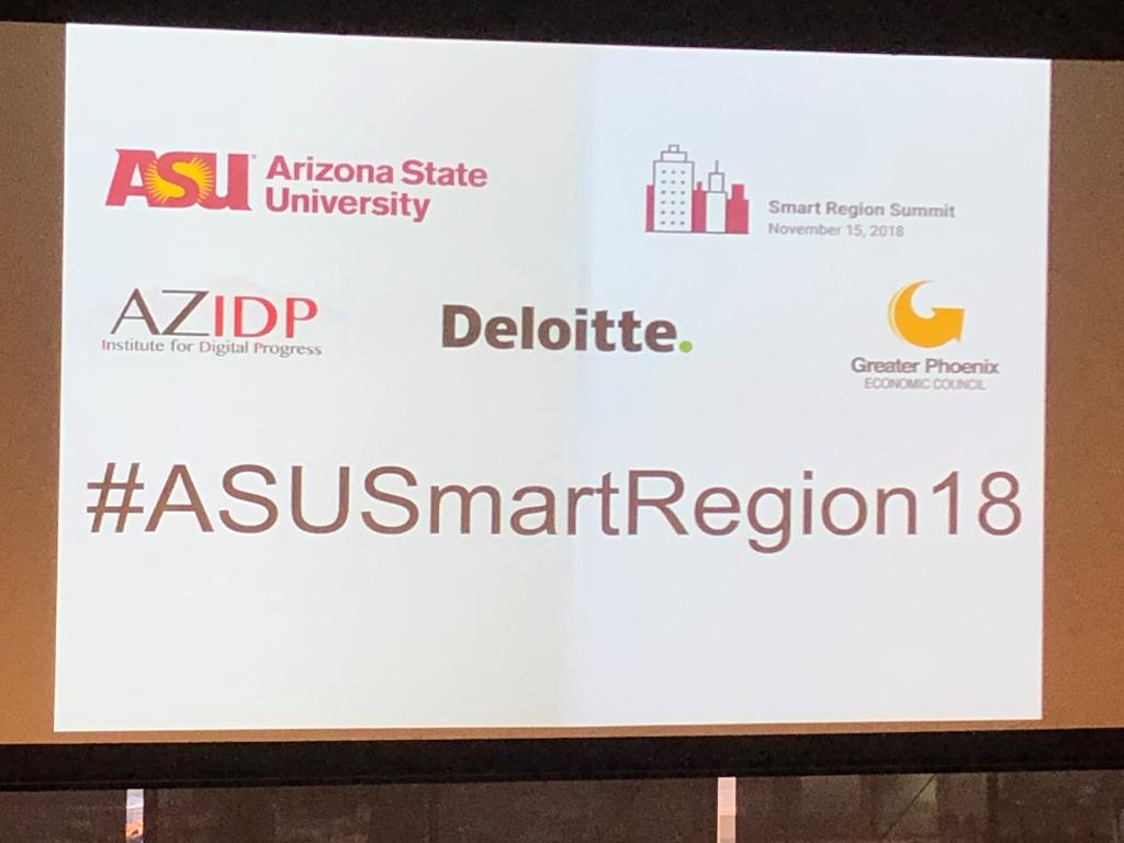 Deloitte is happy to be a part of the #ASUSmartRegion18 Summit, helping ASU and the Phoenix with Smart Regions collaboration. https://t.co/hJnuOE1zcC