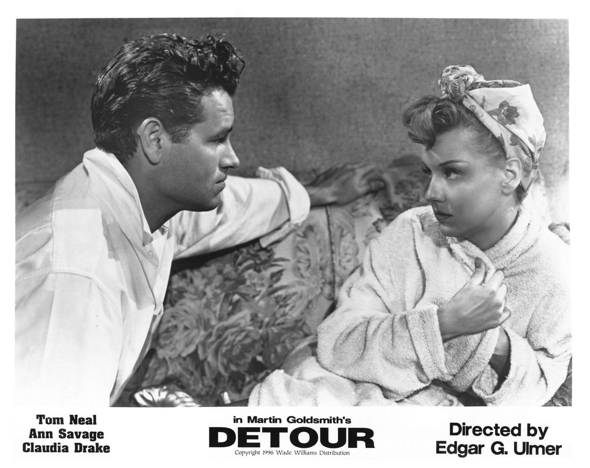 Classic promo material for Ulmers searing noir DETOUR. New 4k restoration coming to theaters on 11/30!