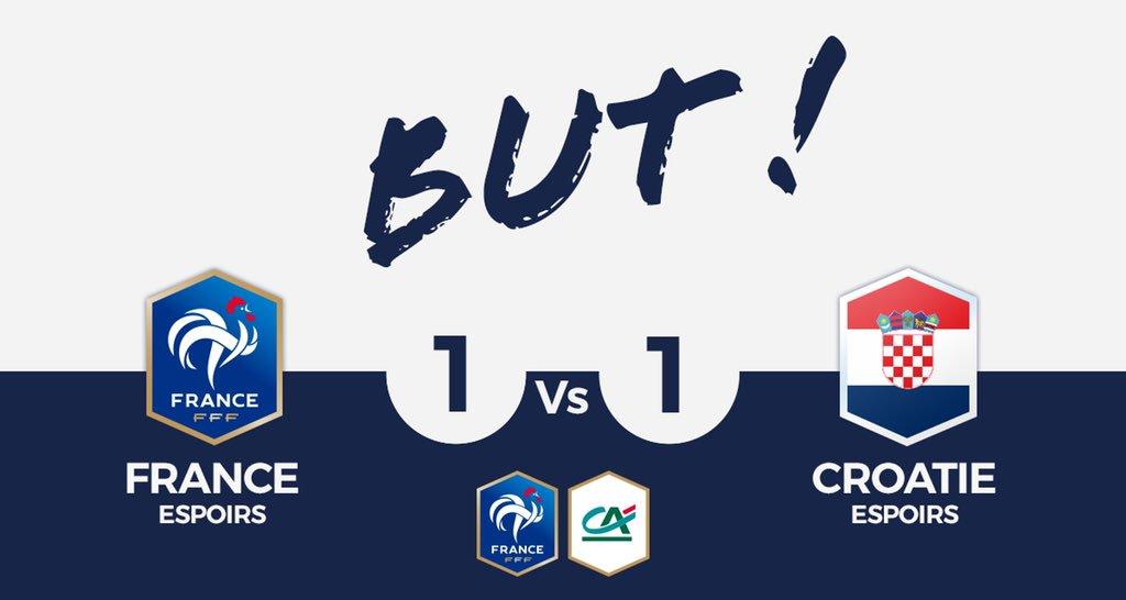 FRANCE U21🇫🇷 1-1 CROATIE U21🇭🇷  BUT DE LA CROATIE !   #SportEcoleDeVie #CôtéFoot #FRACRO