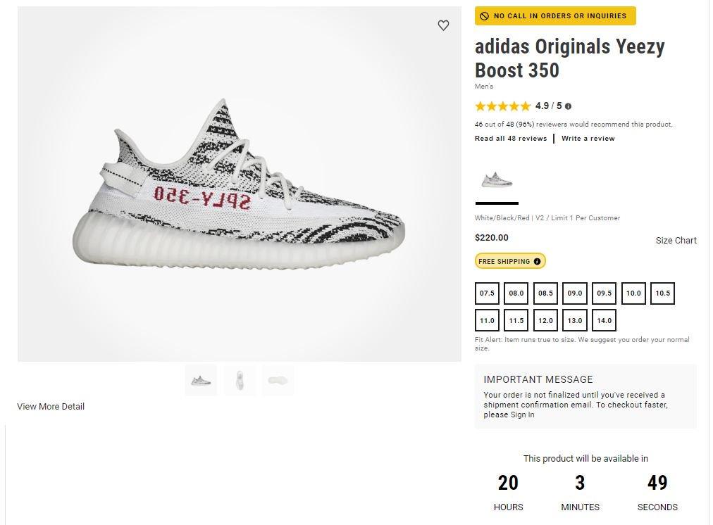 7036f6509cb0b Ad  COUNTDOWN via Footaction adidas Yeezy Boost 350 V2 Zebra     http   bit.ly 2DFTHOh pic.twitter.com WKLXH7gKUE