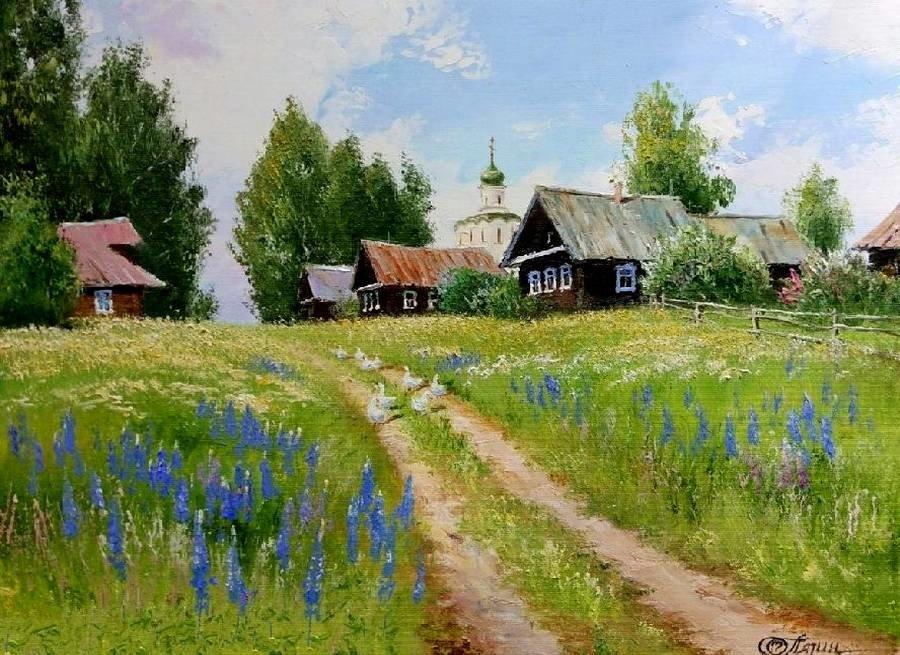 Прикольные поздравления, русская деревня открытка