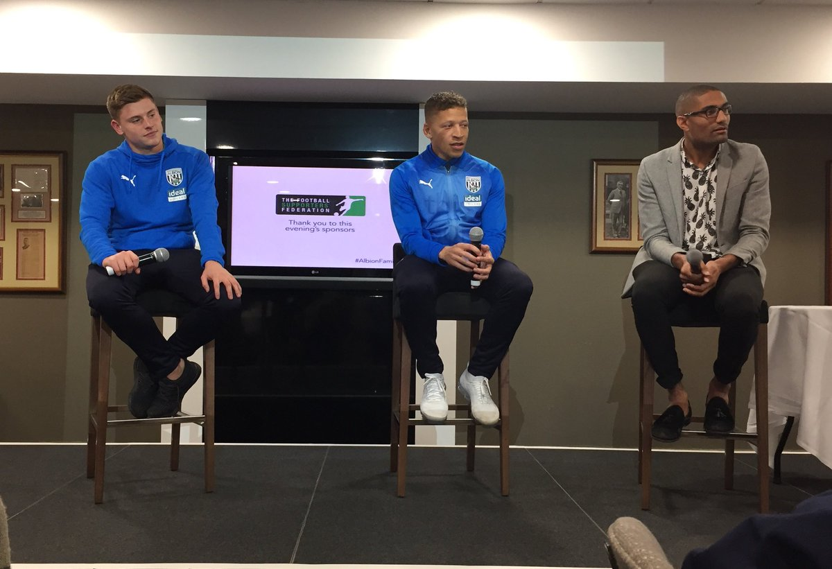 Had a superb day at The Hawthorns👌our #FansforDiversity guidance group were treated to a comprehensive @WBA stadium tour before our 2nd meeting, then we joined the #AlbionFamily event with Dwight Gayle & Harvey Barnes 👍🏼 a big thank you to @ShintheBaggie @neilbast @Gurdi