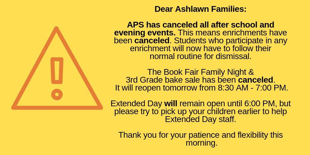 Dear Ashlawn Families: <a target='_blank' href='https://t.co/iv8cwHuQV7'>https://t.co/iv8cwHuQV7</a>