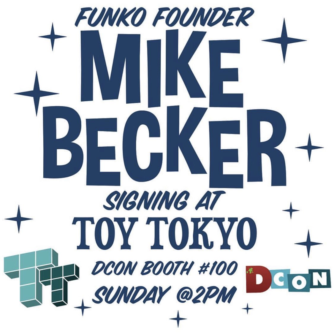 Meet Funko Founder Mike Becker at our booth this Sunday at @DesignerCon! ✨💫