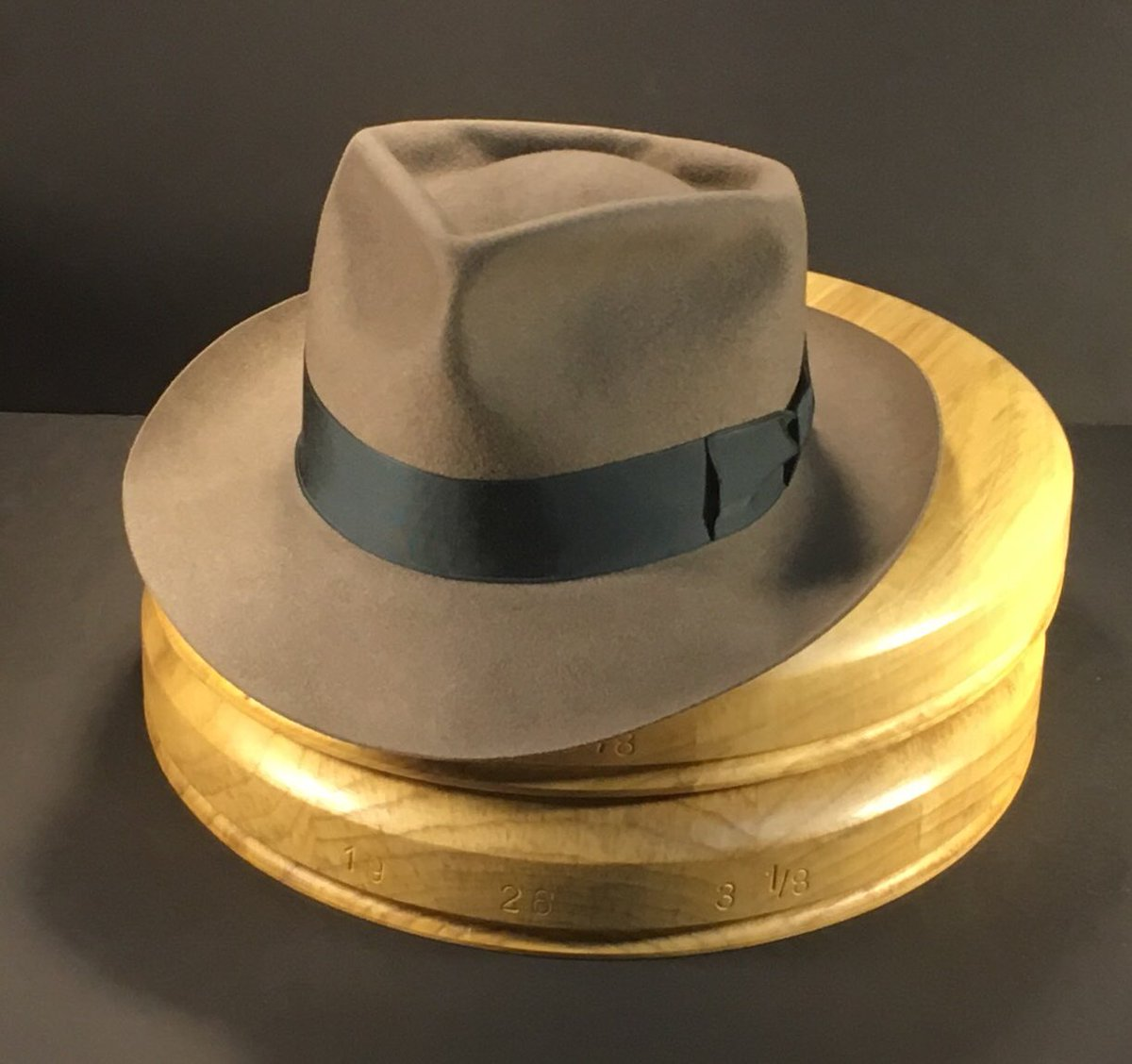 fdd8c6283780b ... crease fedora with vintage iron grosgrain ribbon. The finest in bespoke  hats.  penmanhats truly made by hand. No automation and no sewing machine.