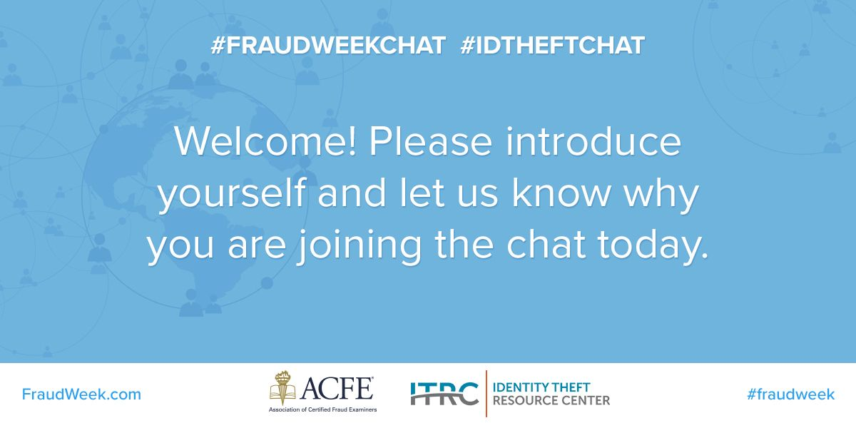 Hello #FraudWeekChat participants! DCBA here, the consumer protection agency of #LACounty. We're excited to share tips to help #consumers spot and avoid #IDTheft, #scams and #fraud.