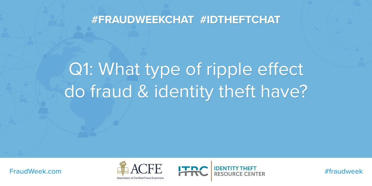 A1: #IDTheft and fraud can lead to a damaged credit score, affecting your chances of finding a job, a place to live, or getting a loan. Follow the tips in our #IDTheft toolkit to help you get your credit back in order: https://t.co/nDsajTT0Ir #FraudWeekChat