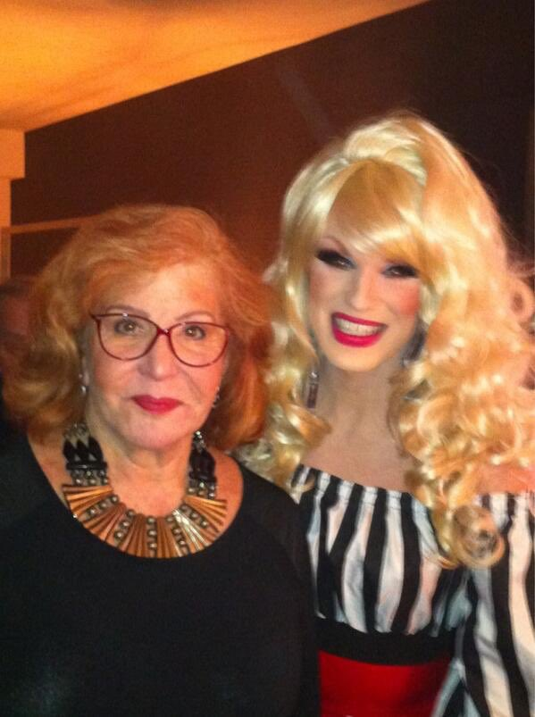 #TBT 2013 - Me with the beautiful @Ivy_Winters at a #DragRace viewing party...don't we both look fabulous?!