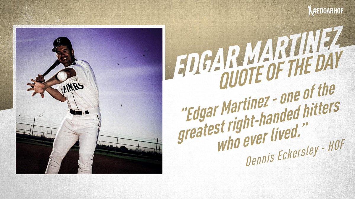 High praise for Edgar from Hall of Famer Dennis Eckersley. #EdgarHOF More: atmlb.com/2KdsBPj